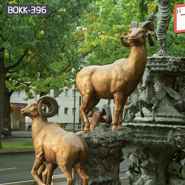 A pair of sheep bronze casting garden metal decor outdoor
