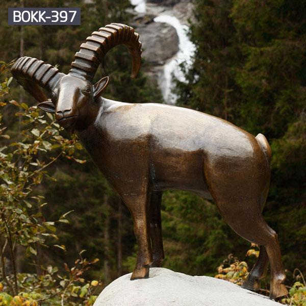 Life size metal brass sheep statues outdoor farm decor