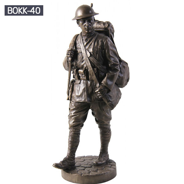 life size military garden statues outdoor bronze casting
