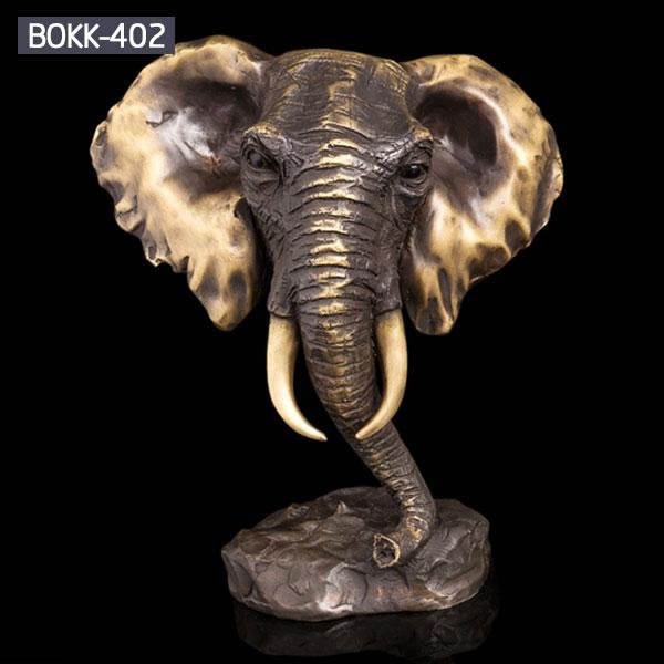 Indoor home decor elephant head bronze bust statues to buy
