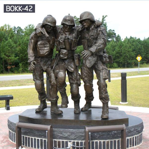 life size military solider garden bronze casting memorials