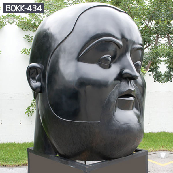 Bespoke modern city bronze statues of woman head for sale