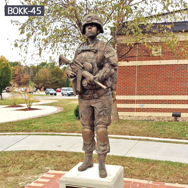 Garden life size brass solider statues outdoor for sale