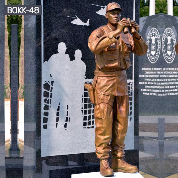 Brass life size military solder garden memorial for sale