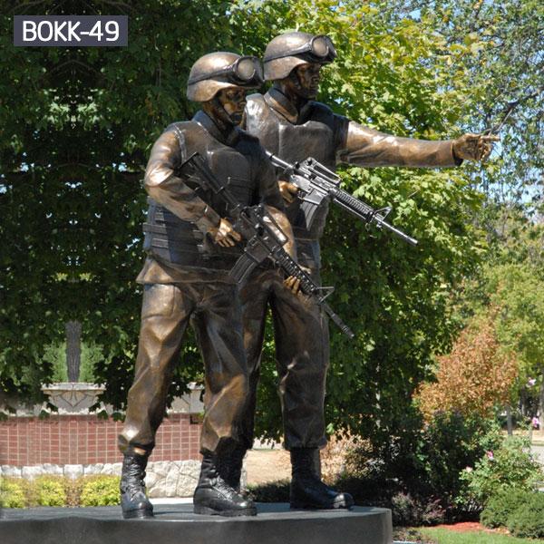 Antique military bronze patriotic statues of solder for sale