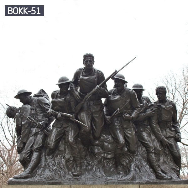 Outdoor patriotic military group statues bronze casting for sale