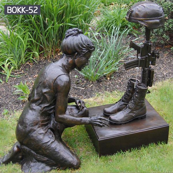 Military bronze casting fallen soldier statue memorials for sale