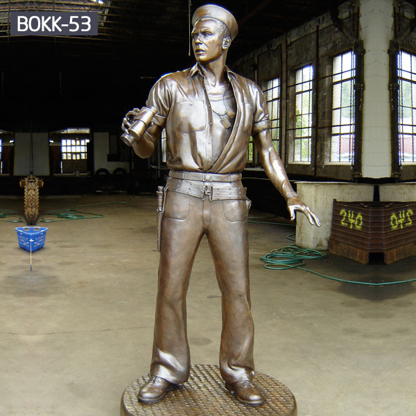 Life size brass military garden statues of navy for sale