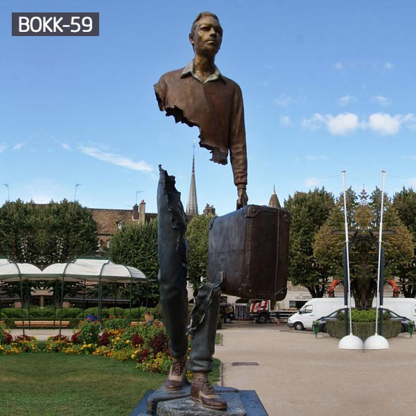 Outdoor life size bruno catalano sculpture for sale