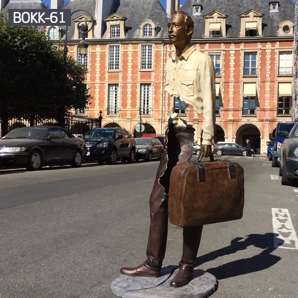 Life size France Bruno catalano les voyageurs for sale