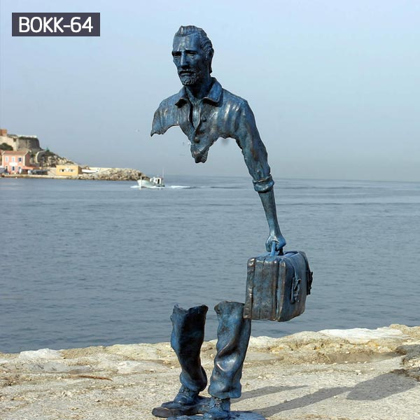Bruno Catalano Sculpture the traveler bronze statues for sale