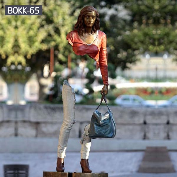 Modern art bronze life size bruno catalano travellers to buy