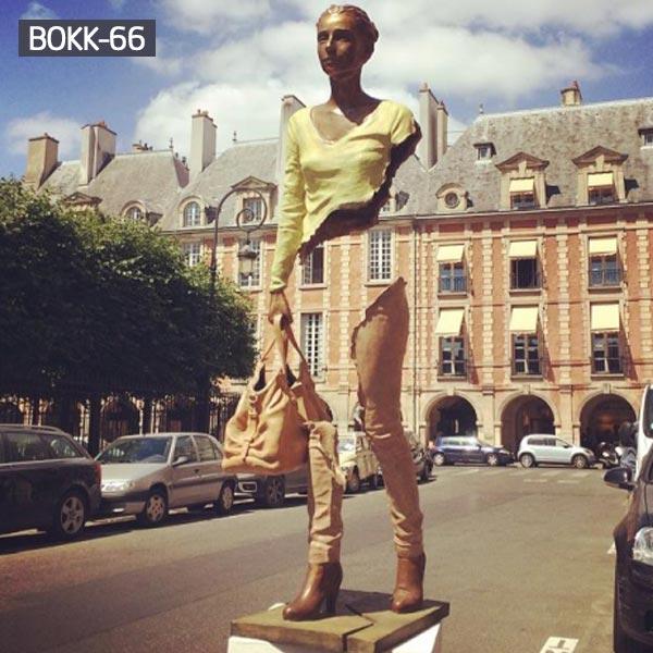 life size modern bronze street art bruno catalano price
