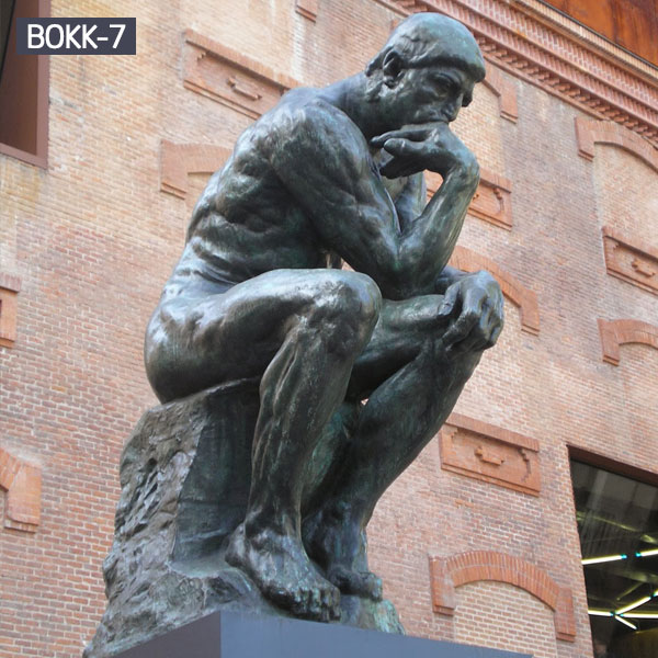 Outdoor famous bronze statues the thinker for sale
