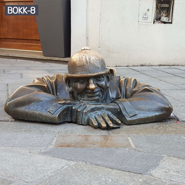Outdoor street metal art bronze figure famous statues for sale