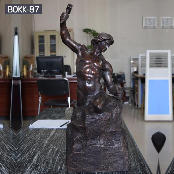 Bronze casting garden sculpture of the self made man for sale