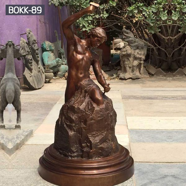 Buy 40 inches bronze casting self made man statue for sale