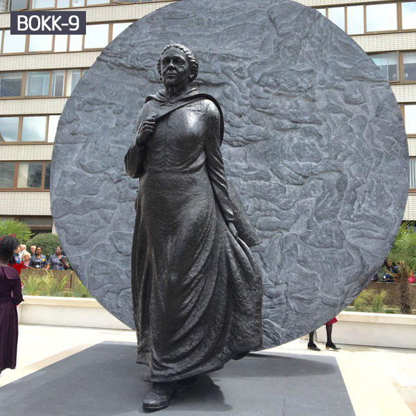 UK first black woman memorial bronze statue Mary Seacole statue for hospital outdoor