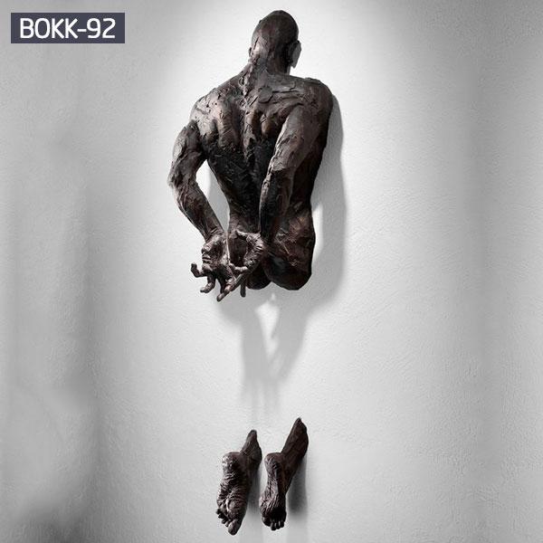Bronze body sculpture wall art for sale