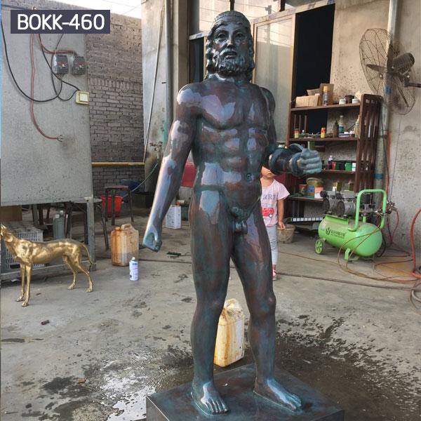 Black bronze casting nude man outdoor garden statues to buy