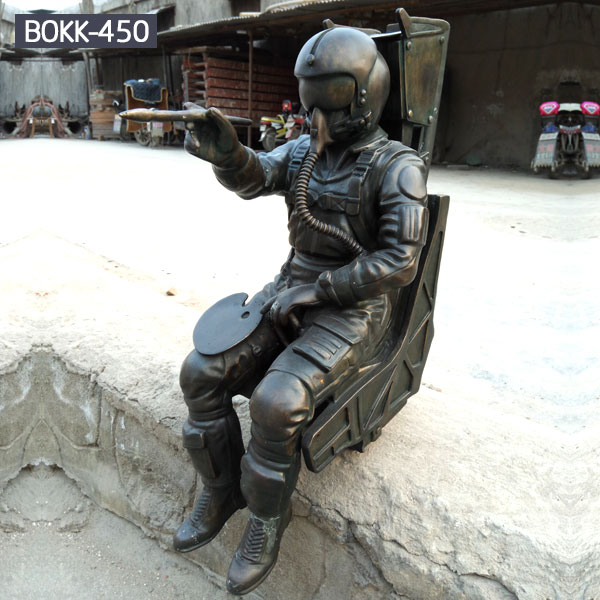 Custom casting bronze spaceman outdoor statues for sale