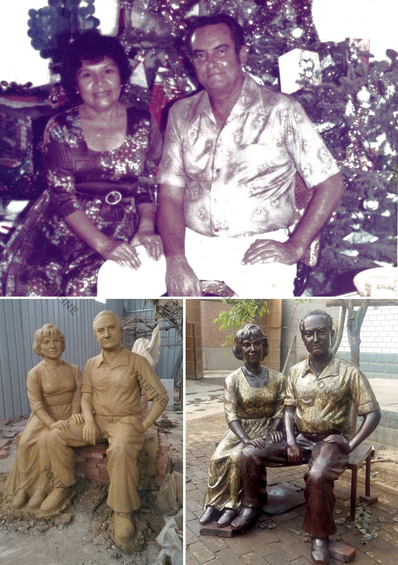Custom make bronze casting life size figure statues from a photo