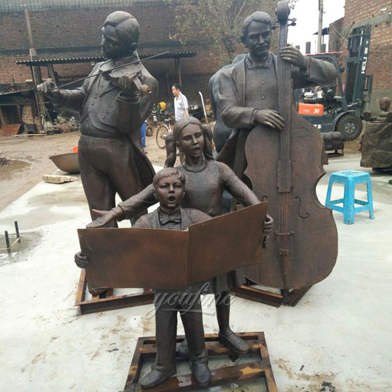 Full size outdoor park garden decor Virtuosi bronze casting sculptures to sale