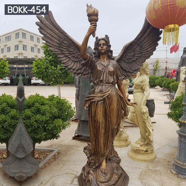 Garden bronze decor life size garden holding torch statues for sale