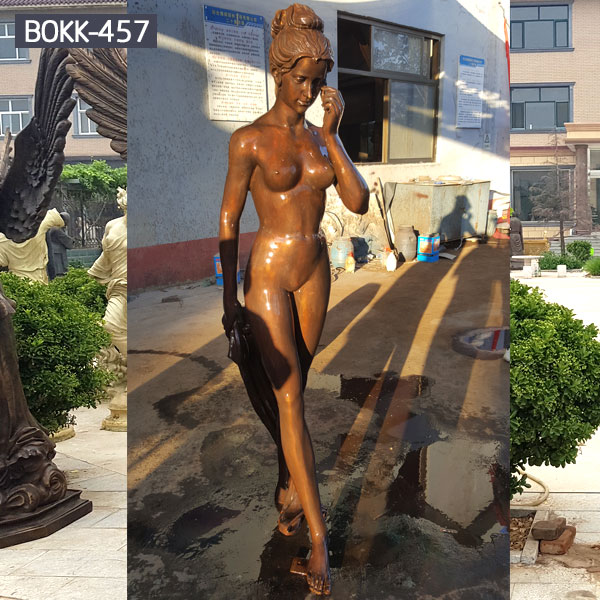 Life size garden nude lady statues outdoor decor