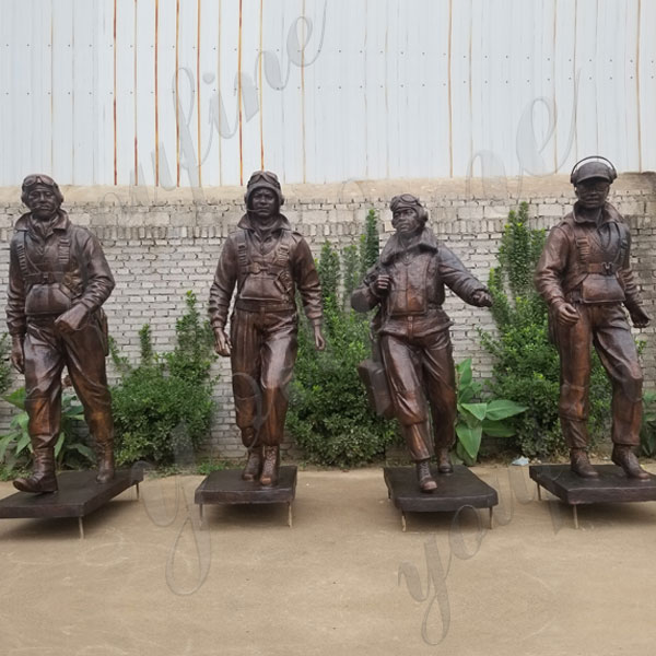 Custom Made Madetuskegee Airmen Statue Monument Replica Life Size Bronze Statue Commission for Our American Friend for Sale BOKK-579